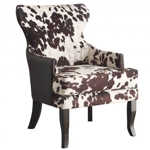 (ANGUS BROWN)- FABRIC/PU LEATHER- ACCENT CHAIR