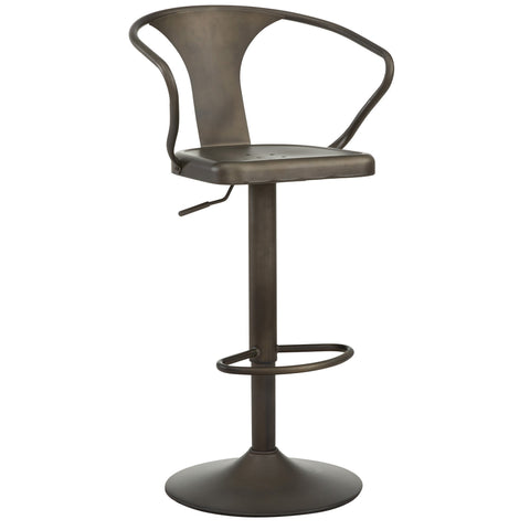 ASTRA - GUNMETAL COLOUR - METAL - ADJUSTABLE - SWIVEL - BAR STOOL