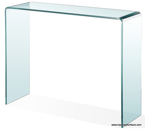BENT GLASS- CONSOLE TABLE