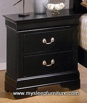 4935A- LOUIS PHILLIP- BLACK COLOR- 2 DRAWER- NIGHT STAND