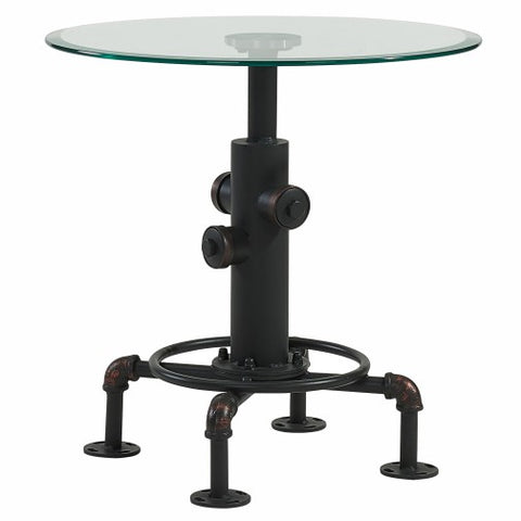 BRONX- BLACK COLOR- GLASS- ACCENT TABLE