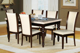 (BULLINS)- MARBLE LOOK- DINING TABLE- WITH 6 CHAIRS