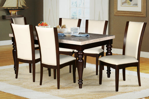 BULLINS- MARBLE LOOK- DINING TABLE- WITH 6 CHAIRS
