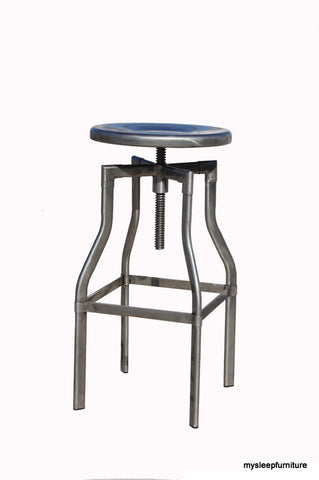 BURTON- GUNMETAL- MANUAL ADJUSTABLE- BAR STOOL