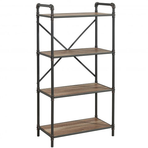 BRONX 4 TIER SHELF IN ANTIQUE BLACK