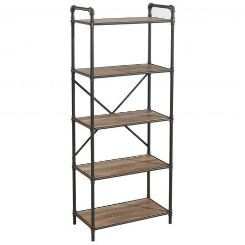 BRONX 5 TIER SHELF IN ANTIQUE BLACK