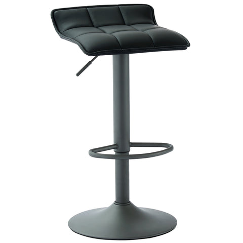 (COMET BLACK)- PU LEATHER- BAR STOOL