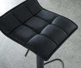 (COMET BLACK)- LEATHER- BAR STOOL