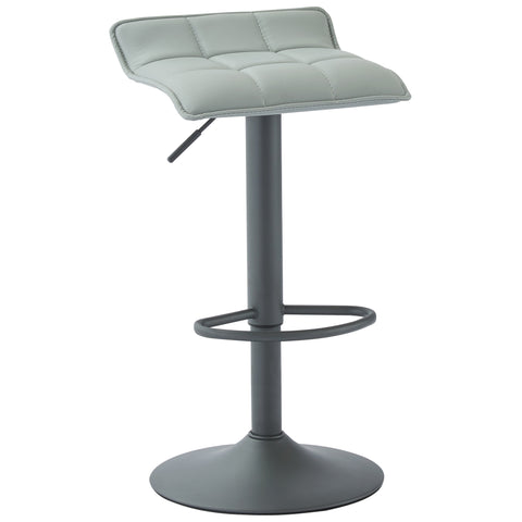 (COMET GREY)- PU LEATHER- BAR STOOL