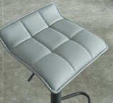 (COMET GREY)- LEATHER- BAR STOOL