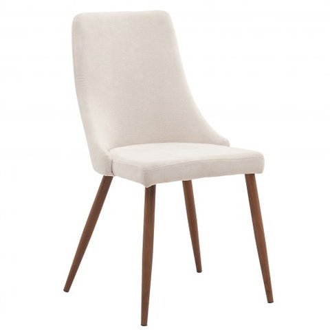 CORA- BEIGE COLOR- FABRIC- DINING CHAIR- 2 PACK