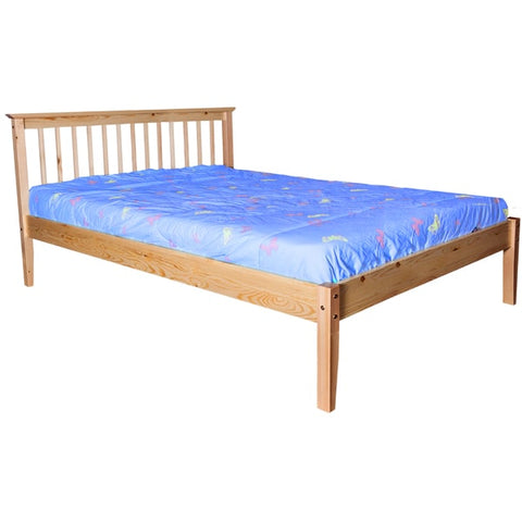 DOUBLE (FULL) SIZE- (CRYSTAL NATURAL)- WOOD- BED FRAME- WITH SLATS