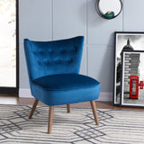ELLE BLUE FABRIC ACCENT CHAIR