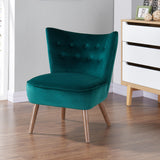 ELLE EMERALD GREEN FABRIC ACCENT CHAIR