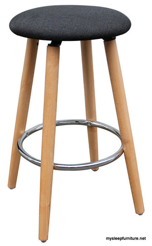 ETTA CHARCOAL COLOR FIXED HEIGHT COUNTER STOOL