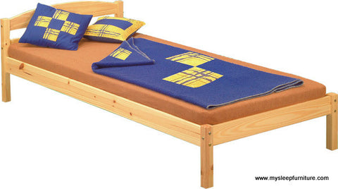 TWIN (SINGLE) SIZE- SIMPLE- SOLID WOOD- BED FRAME- WITH SLATS