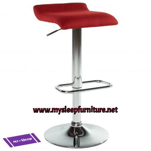 FABIA2- RED COLOR- FABRIC- BAR STOOL