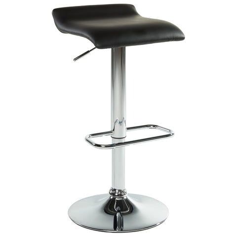 (FABIA BLACK)- PU LEATHER- BAR STOOL