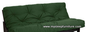 "DOUBLE SIZE- GREEN COLOR- 8"" THICK- DELUXE FUTON MATTRESS"