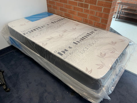 "TWIN (SINGLE) SIZE- 8"" THICK- (BAMBOO FABRIC)- FOAM MATTRESS"