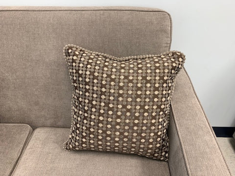 (BROWN DOTS)- CANADIAN MADE- TOSS CUSHION- ONLY 1 LEFT