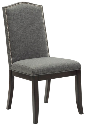 JAZZ- GREY COLOR- FABRIC- DINING CHAIR- 2 PACK