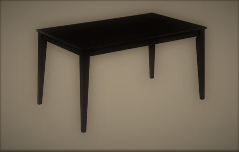 3106- DARK ESPRESSO COLOR- SOLID WOOD- DINING TABLE