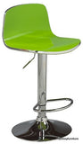 JUDD- 9823- GREEN COLOR- ACRYLIC- ADJUSTABLE HEIGHT- BAR STOOL