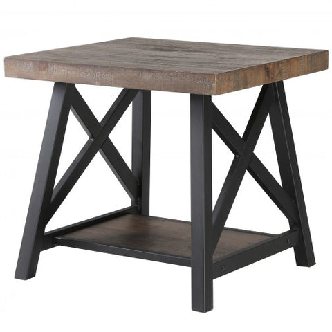 LANGPORT- RUSTIC OAK- ACCENT TABLE