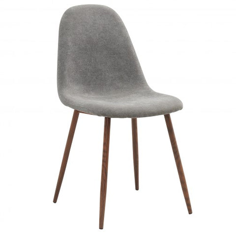 (LYNA GREY- 4 PACK)- FABRIC- DINING CHAIR