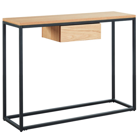 LANCE WOOD CONSOLE TABLE WITH DRAWER