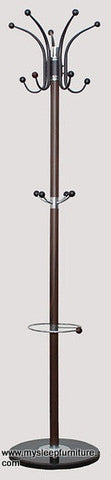 MASON- BROWN COLOR- COAT RACK- WITH BLACK MARBLE BASE