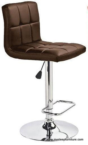 MAX- BROWN COLOR- PU LEATHER- ADJUSTABLE- SWIVEL- BAR STOOL
