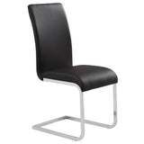 (MAXIM BLACK- 2 PACK)- PU LEATHER- DINING CHAIRS