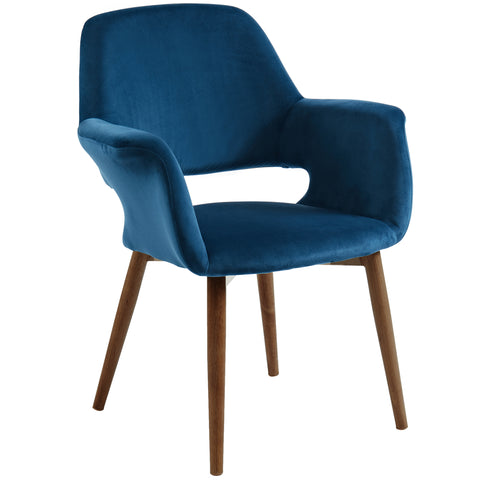 (MIRANDA BLUE)- FABRIC- ACCENT CHAIR