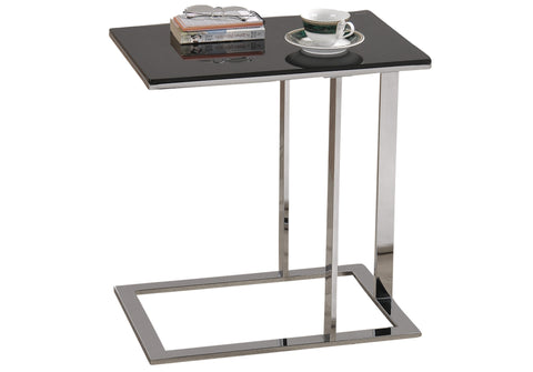 MOD- BLACK COLOR- GLASS- ACCENT TABLE