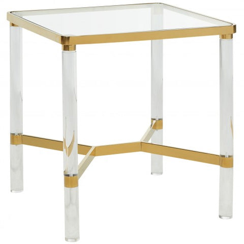 MORELIA 1- GOLD- GLASS- ACCENT TABLE