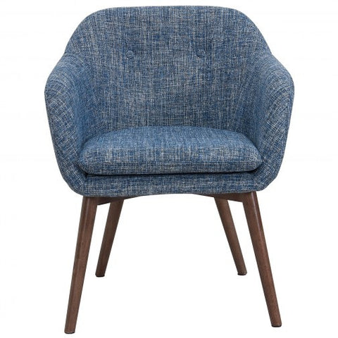 MINTO FABRIC ACCENT CHAIR IN BLUE BLEND