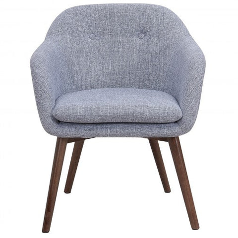 MINTO FABRIC ACCENT CHAIR IN GREY BLEND