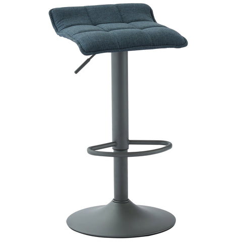 (PLUTO BLUE)- FABRIC- BAR STOOL