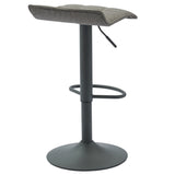 (PLUTO GREY)- FABRIC- BAR STOOL