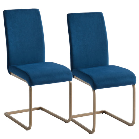 (VESPA BLUE- 2 PACK)- FABRIC- DINING CHAIRS
