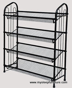 Shoe Rack Black Color Metal Mysleep