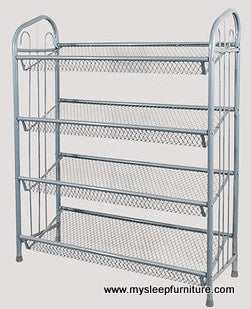 SHOE RACK- SILVER GRAY COLOR- METAL