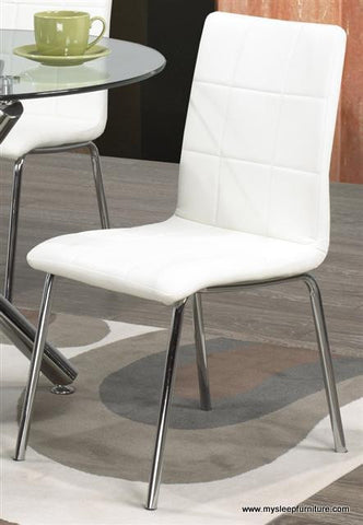 (SOLARA WHITE- 4 PACK)- LEATHER- DINING CHAIRS