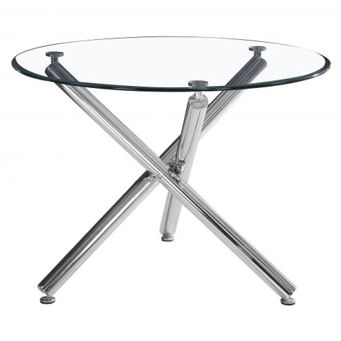 (SOLARA- 1)- ROUND- GLASS TOP- DINING TABLE