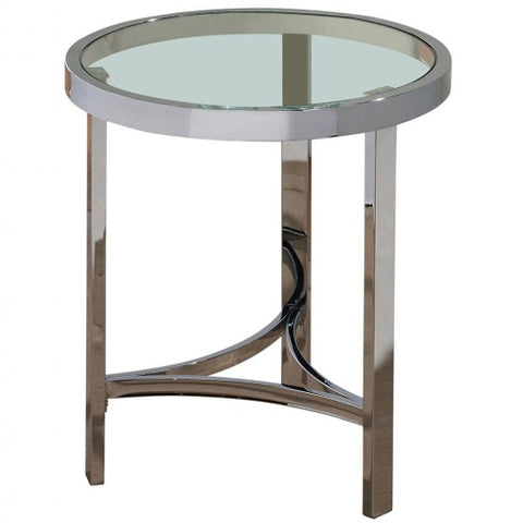 STRATA- GLASS- ACCENT TABLE