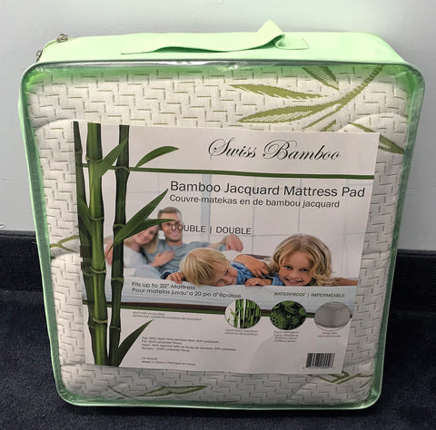 DOUBLE (FULL) SIZE- (SWISS BAMBOO)- WATERPROOF- MATTRESS PROTECTOR