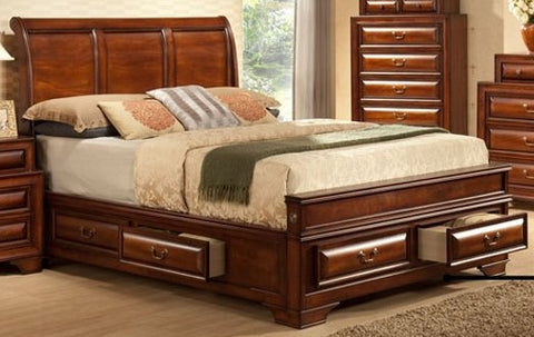 KING SIZE- SOFIA- WOOD- BED FRAME- WITH DRAWERS