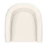 (VELCI IVORY)- VELVET FABRIC- SWIVEL- ACCENT CHAIR